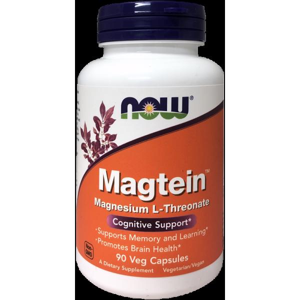 Now Foods Magtein Magnesium L-Threonate 90 Capsules
