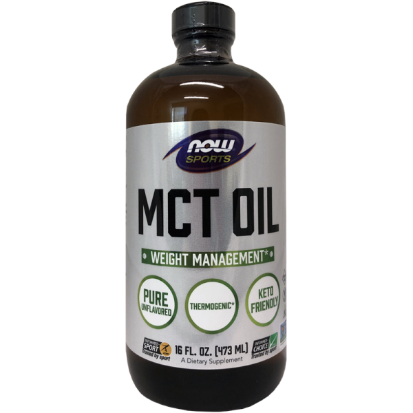 Now Foods MCT Oil 100% Pure in Glass Bottle 473ml