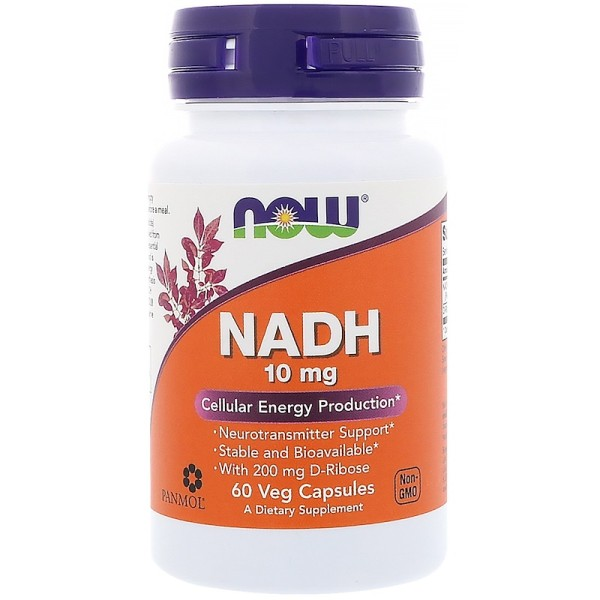 Now Foods NADH 10mg 60 Capsules