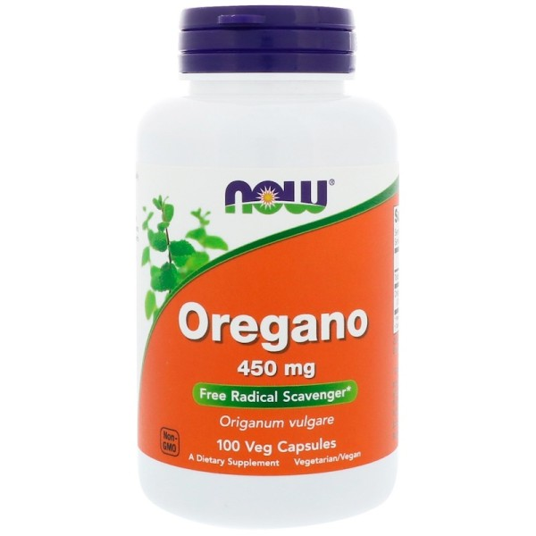 Now Foods Oregano 450mg 100 Capsules