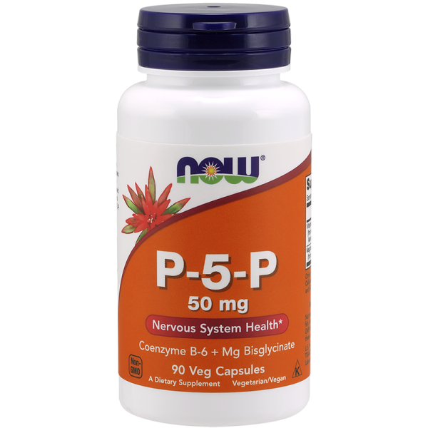 Now Foods P-5-P 50mg Nervous System Health 90 Capsules