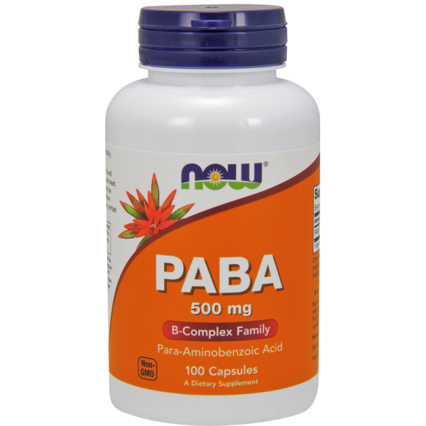 Now Foods PABA 500mg 100 Capsules