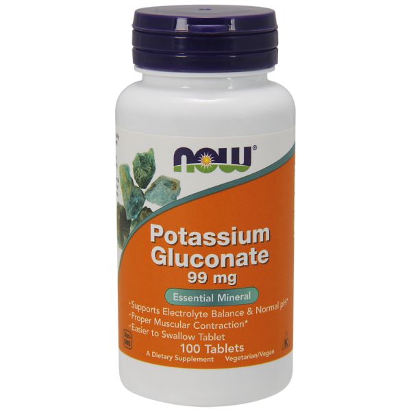 Now Foods Potassium Gluconate 99mg 100 Tablets