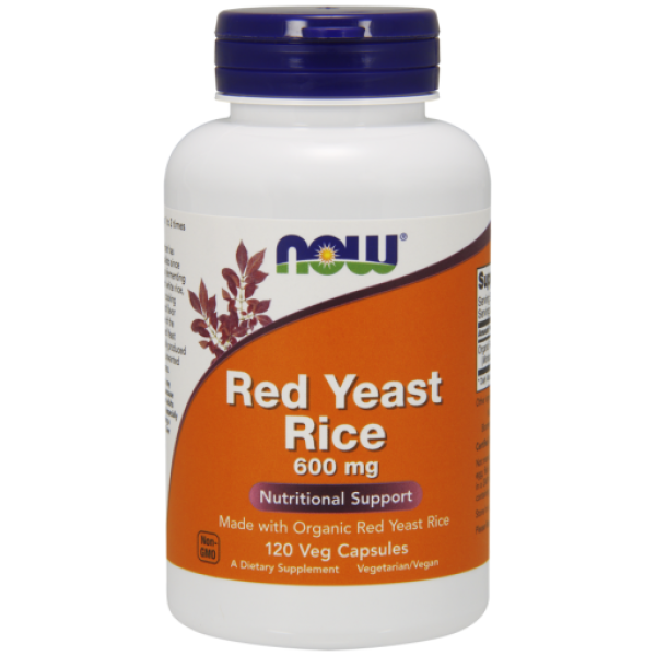 Now Foods Red Yeast Rice 600mg 120 Capsules