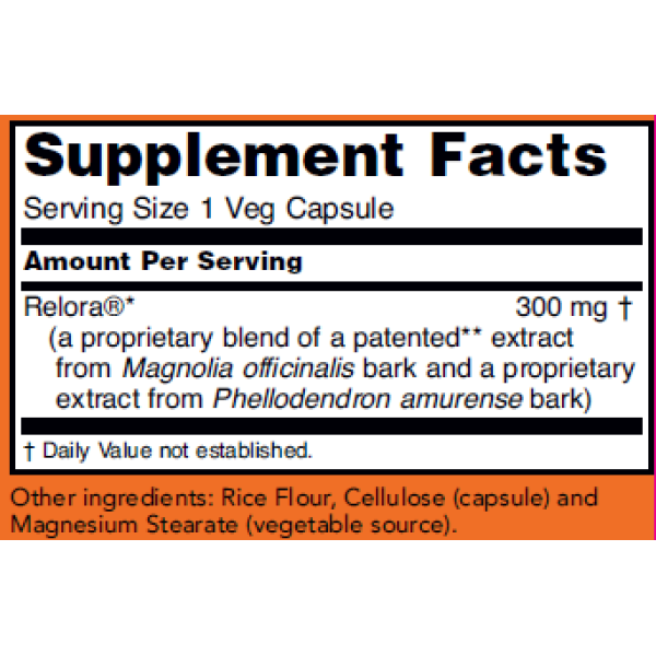 Now Foods Relora 300mg 60 Capsules