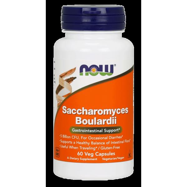 Now Foods Saccharomyces Boulardii Gastrointestinal Support 60 Capsules
