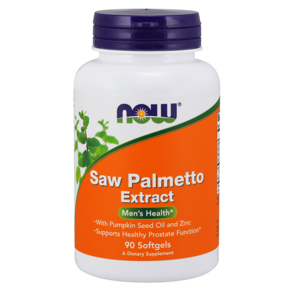 Now Foods Saw Palmetto Extract 80mg plus Pumpkin Seed Oil and Zinc 90 Softgels