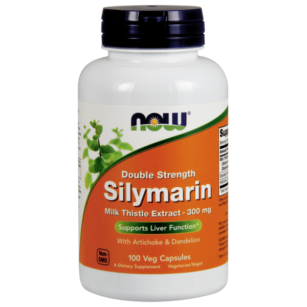 Now Foods Silymarin Milk Thistle with Artichoke and Dandelion Double Strength 100 Capsules