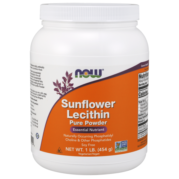 Now Foods Sunflower Lecithin Pure Powder NON-GMO 454g