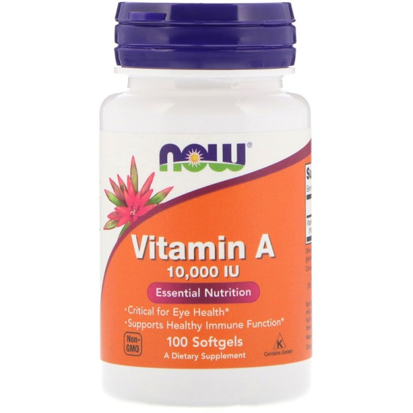 Now Foods Vitamin A 10000IU 100 Softgels