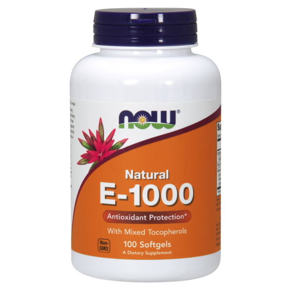 Now Foods Vitamin E-1000 Natural 100 Softgels