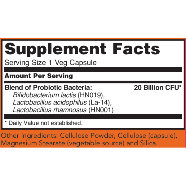 Now Foods Women's Probiotic 20 Billion 50 Capsules