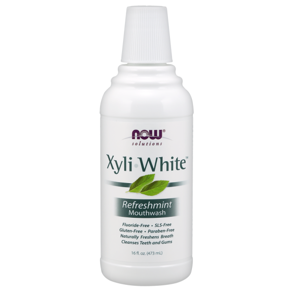 Now Foods XyliWhite Mouthwash Refreshmint 473ml