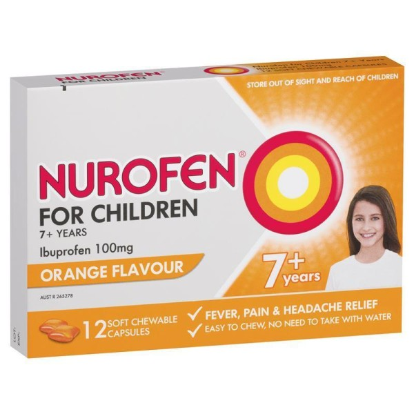Nurofen For Children 7+ Chewable Orange Flavour