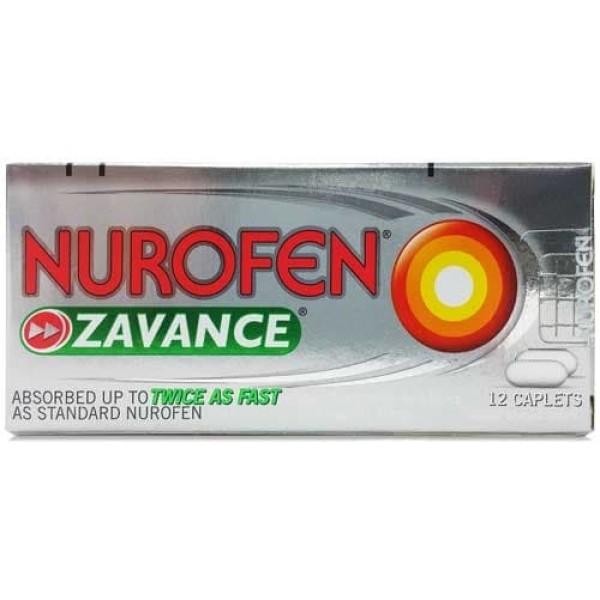 Nurofen Zavance Ibuprofen Pain Relief 12 Caplets