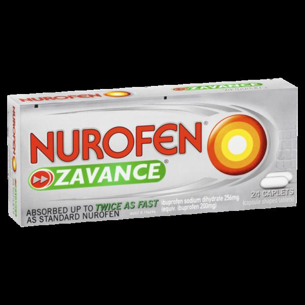 Nurofen Zavance Ibuprofen Pain Relief 24 Caplets