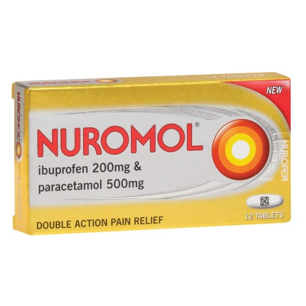 Nuromol Double Strength Pain Relief 12 Tablets