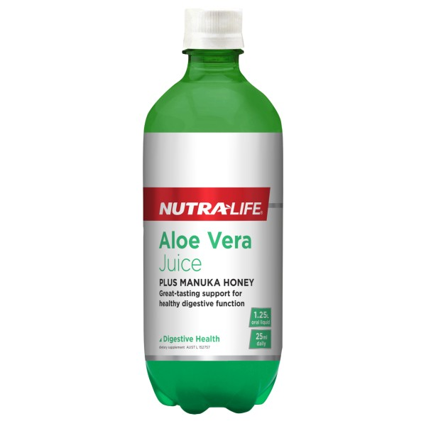 NutraLife Aloe Vera Organic Juice with Manuka Honey 1.25L