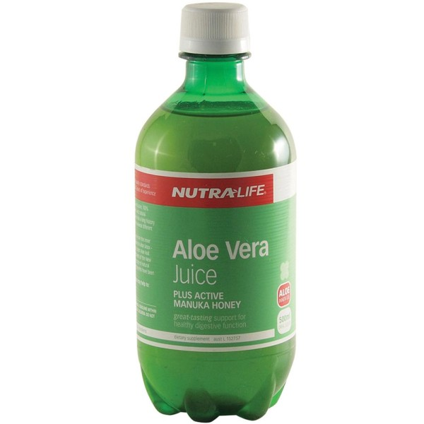 NutraLife Aloe Vera Organic Juice with Manuka Honey 500ml