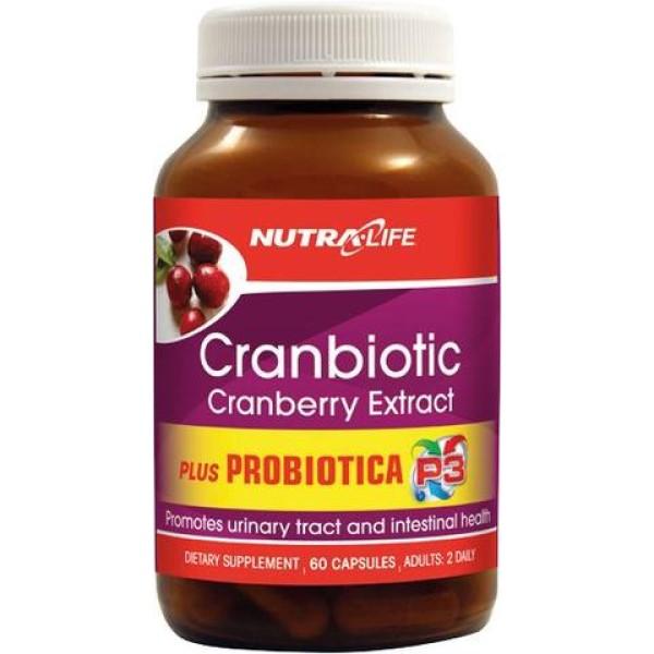 NutraLife Cranbiotic Cranberry Extract plus 60 Capsules