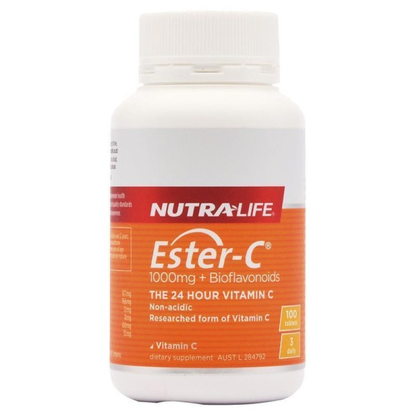 NutraLife Ester C 1000mg + Bioflavonoids 100 Tablets