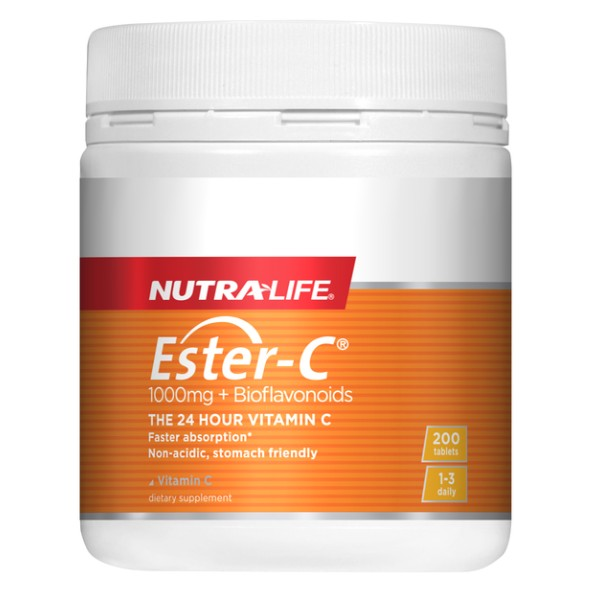 NutraLife Ester C 1000mg + Bioflavonoids 200 Tablets