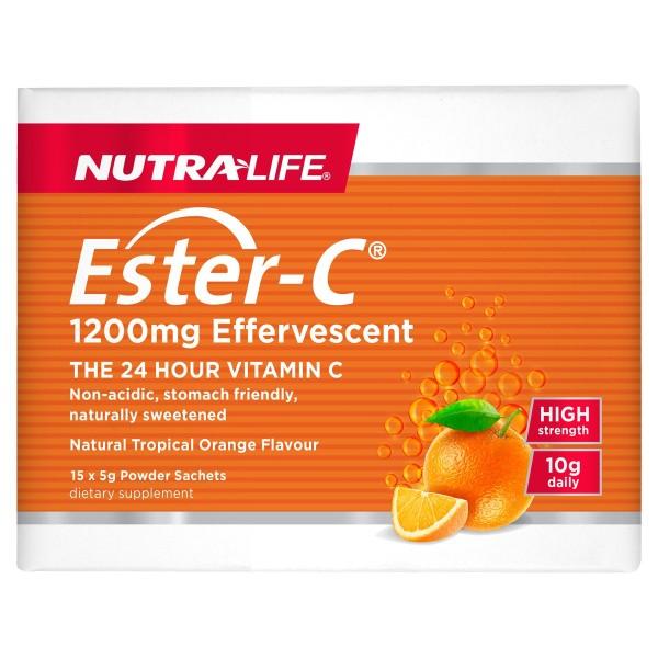 NutraLife Ester C 1200mg Effervescent Sachets