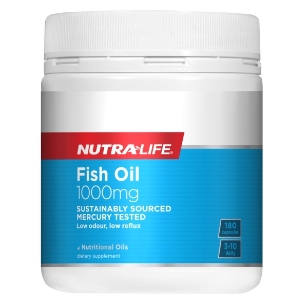 NutraLife Fish Oil 1000mg 180 Capsules or 400 Capsules