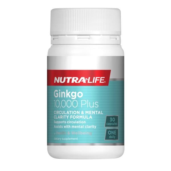 NutraLife Ginkgo 10,000 Plus 30 Capsules