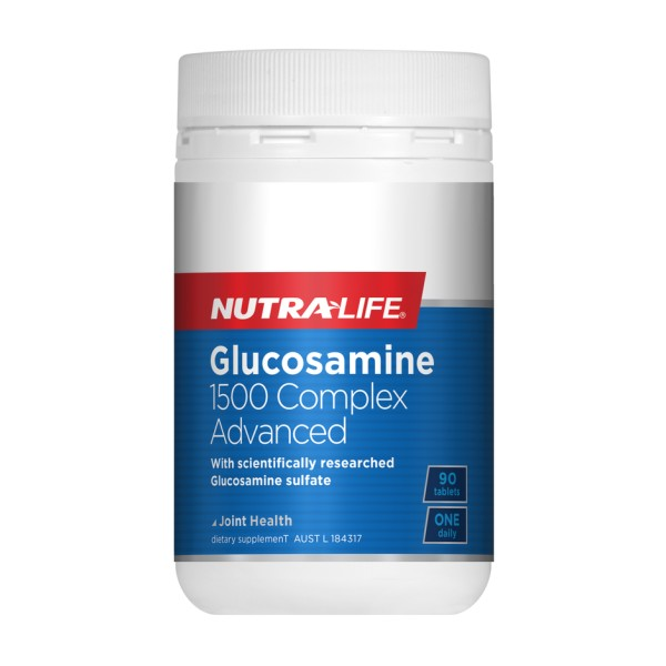 NutraLife Glucosamine 1500mg Complex ADVANCED 90 Tablets