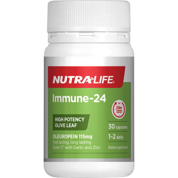 NutraLife Immune Support 24 Hours Olive Leaf 30 Capsules