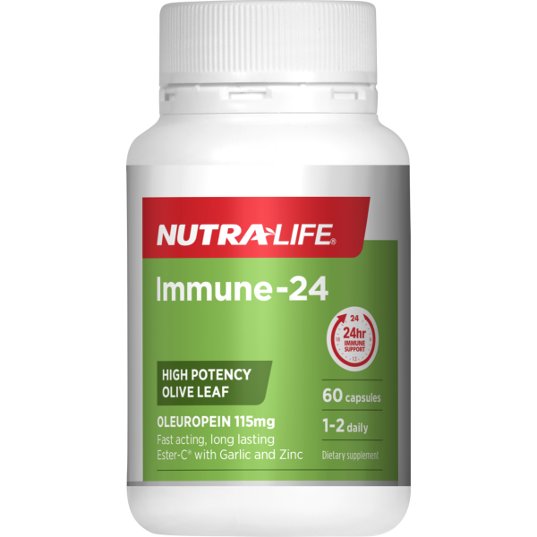 NutraLife Immune Support 24 Hours Olive Leaf 60 Capsules