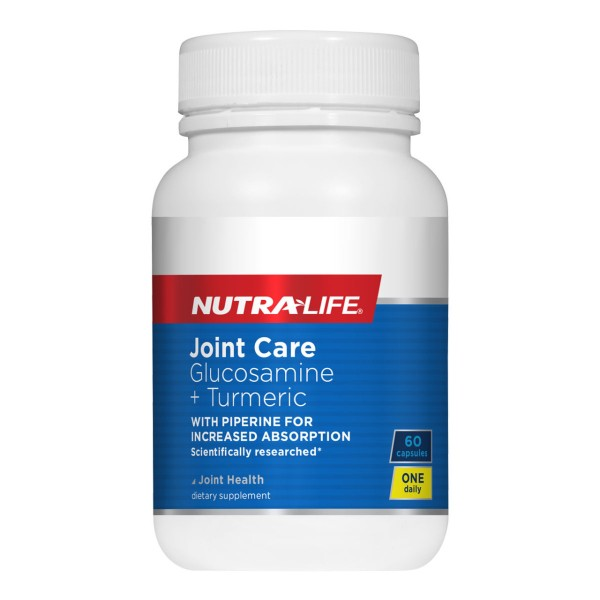 NutraLife Joint Care Glucosamine + Turmeric 1-A-Day 60 Capsules