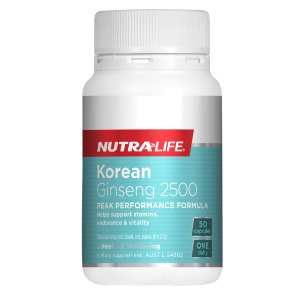 NutraLife Korean Ginseng 2500mg 50 Capsules
