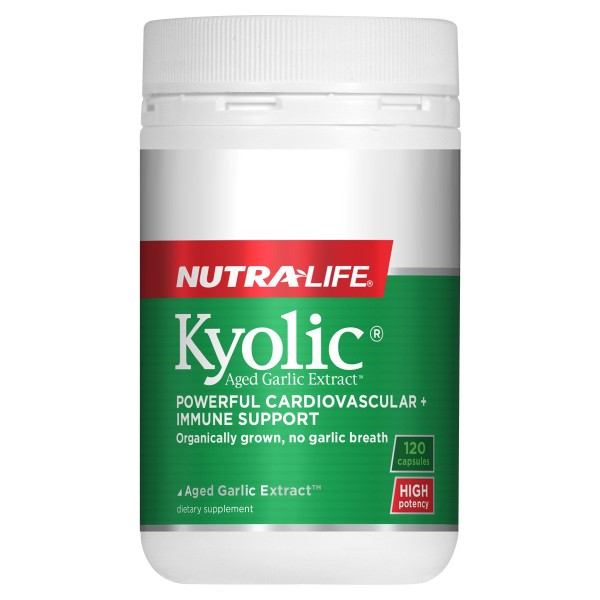NutraLife Kyolic Aged Garlic Extract High Potency Formula 120 Capsules
