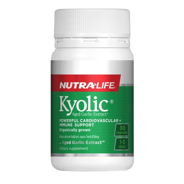NutraLife Kyolic Aged Garlic Extract High Potency Formula 30 Capsules