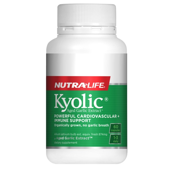 NutraLife Kyolic Aged Garlic Extract High Potency Formula 60 Capsules