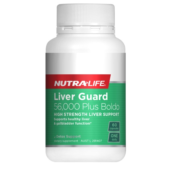 NutraLife Liver Guard 56000mg Plus Boldo 60 Capsules