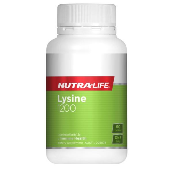 NutraLife Lysine 1200mg 60 Tablets