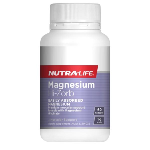 NutraLife Magnesium Hi-Zorb 60 Capsules