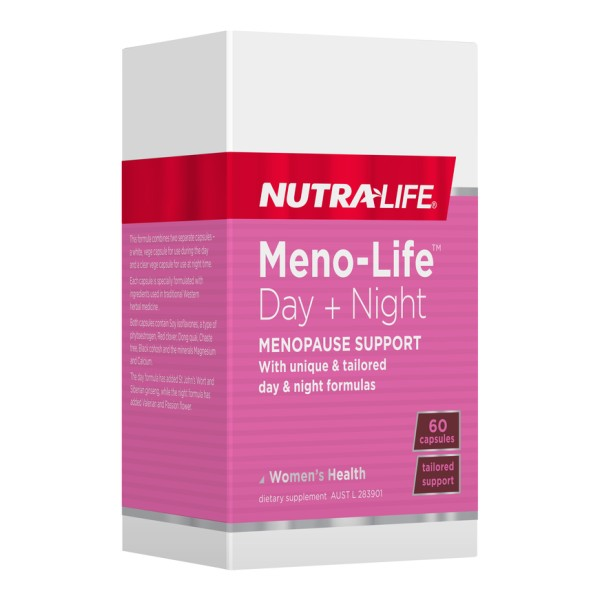 NutraLife Meno Life Day + Night 60 Capsules