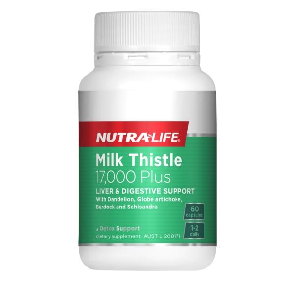 NutraLife Milk Thistle 17000mg Plus 60 Capsules