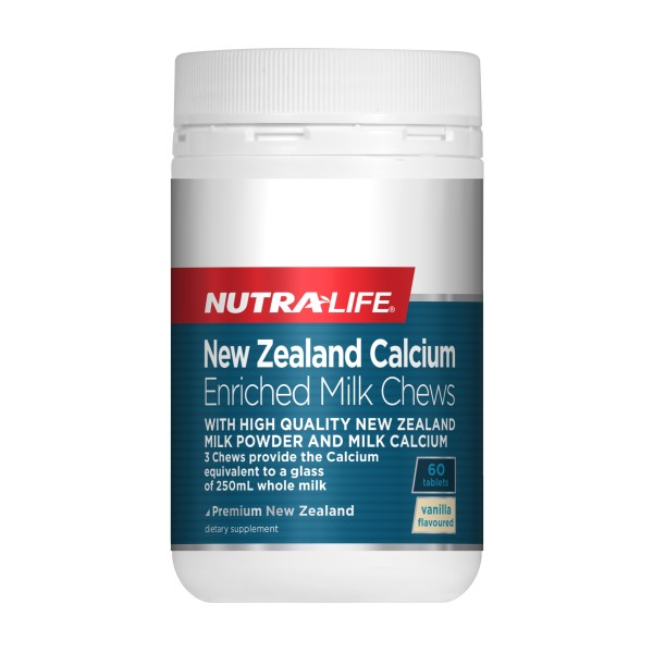 NutraLife NZ Calcium Enriched Milk Chews 60 Tablets