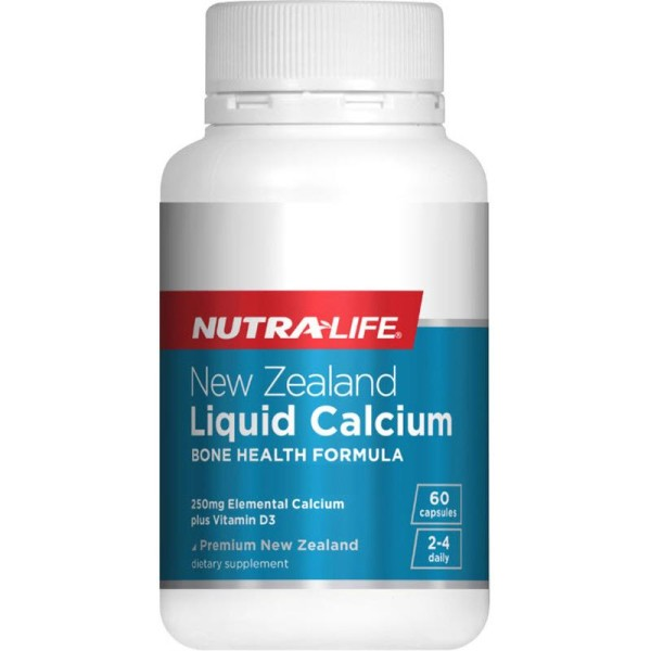 Nutralife NZ Liquid Calcium with StimuCal Plus Vitamin D3 60 Capsules