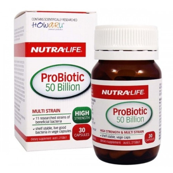 NutraLife ProBiotic 50 Billion 30 Capsules
