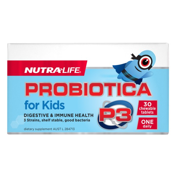 NutraLife Probiotica P3 For Kids Chewable 30 Tablets
