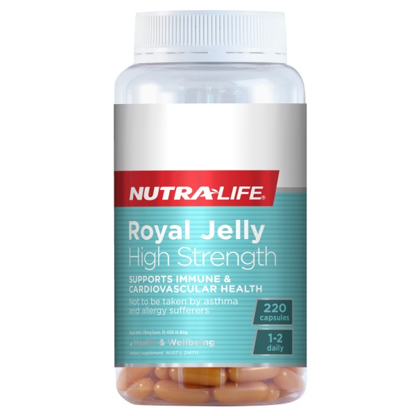 NutraLife Royal Jelly High Strength 1200mg 220 Capsules