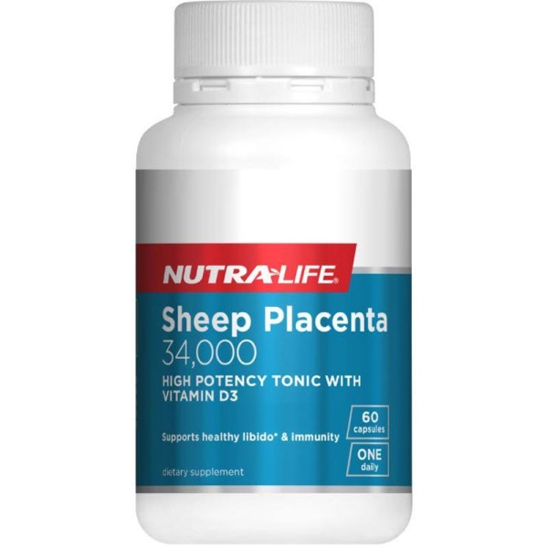 NutraLife Sheep Placenta 34000mg 60 Capsules
