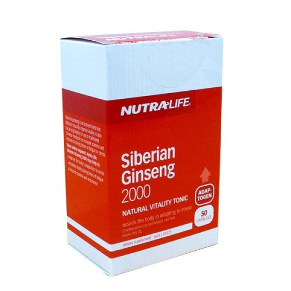 NutraLife Siberian Ginseng 2000mg 50 Capsules