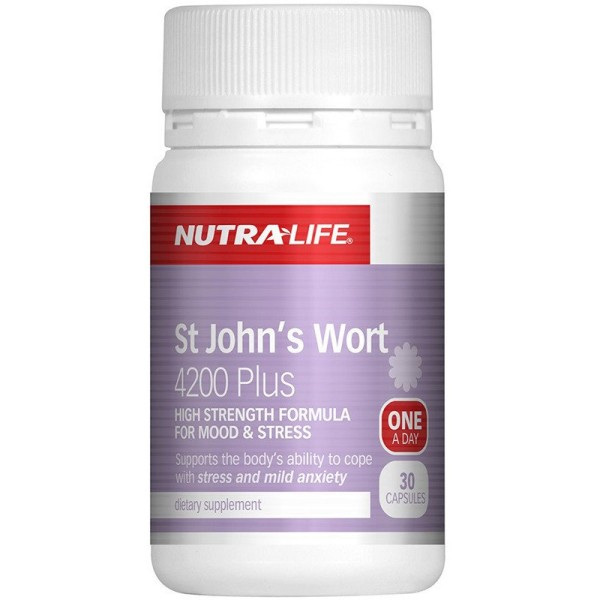 NutraLife St John's Wort 4200mg Plus 30 Capsules